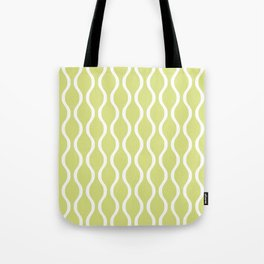 Classic Retro Ogee Pattern 731 Chartreuse Tote Bag