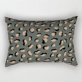 Grey Leopard Print Rectangular Pillow
