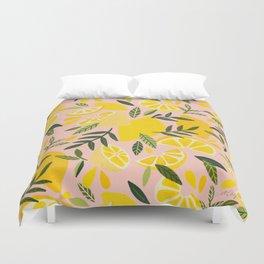 Lemon Blooms – Blush Palette Duvet Cover