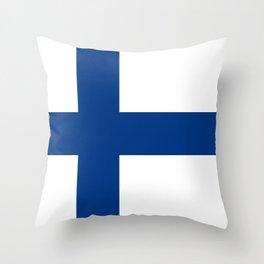 Flag of Finland Throw Pillow