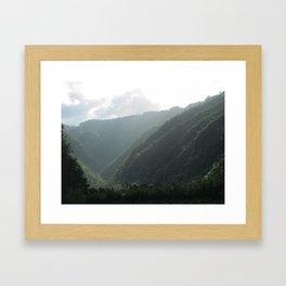 HEAVENLY VALLEY Framed Art Print