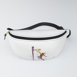 Young woman basketball player 04 in watercolor Fanny Pack
