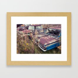 Auto Industrial Complex Framed Art Print