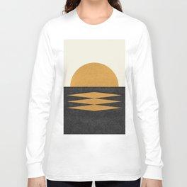 Sunset Geometric Midcentury style Long Sleeve T-shirt