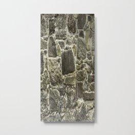 Old Stone Wall rustic decor Metal Print
