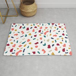 Modern abstract marble mozaic terrazzo pattern Rug