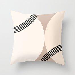 Minimal Abstract Circle Glam #1 #minimal #decor #art #society6 Throw Pillow