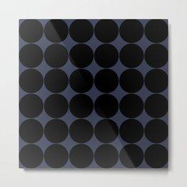 Circular Minimalism - Midnight Metal Print