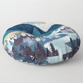 Valley Sunrise Floor Pillow