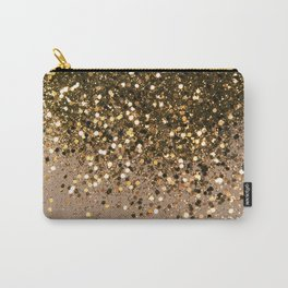 Sparkling Gold Brown Glitter Glam #1 (Faux Glitter) #shiny #decor #art #society6 Carry-All Pouch
