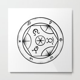 Transmutation Circle Yoga Energy Design Metal Print