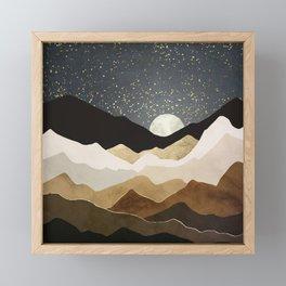 Golden Stars Framed Mini Art Print
