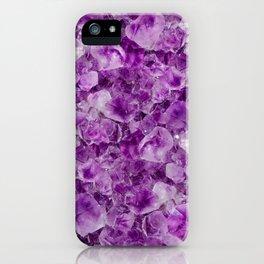 Purple Amethyst Crystals iPhone Case