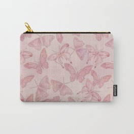 Butterfly Pattern soft pink pastel Carry-All Pouch