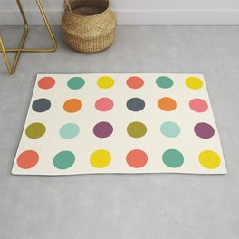 Teyrnon - Colorful Dots Pattern Rug