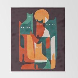 Cat Family Throw Blanket