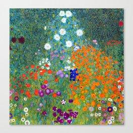 Gustav Klimt Flower Garden Leinwanddruck