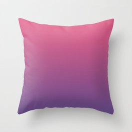 Bright Pink Ultra Violet Gradient | Pantone Color of the year 2018 Throw Pillow
