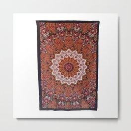 Hippie Star Mandala Throw Wall Hanging Bedspread Metal Print