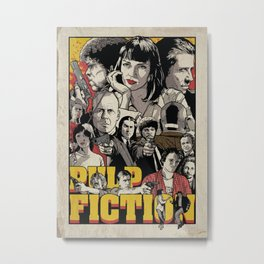 Pulp Fiction Movie Poster - Quentin Tarantino Metal Print