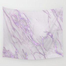 Marble Love Purple Metallic Wall Tapestry