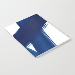 Indigo Abstract Brush Strokes | No. 4 Notebook