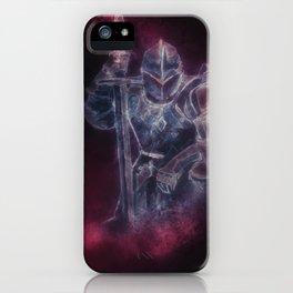 Medieval Knight Templar in Purple Smoke iPhone Case