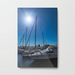 Yachts in the marina Metal Print