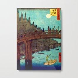 Beautiful Evening Across The Bridge Metal Print