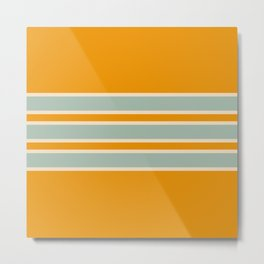 70s Style Retro Stripes Ceres Metal Print