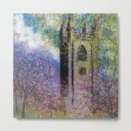 Spring Blossom at St Mary's Metal Print