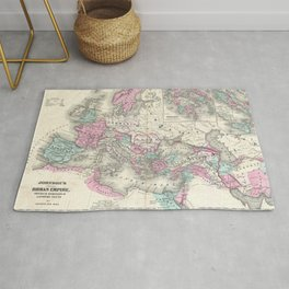 Vintage Map of The Roman Empire (1862) Rug