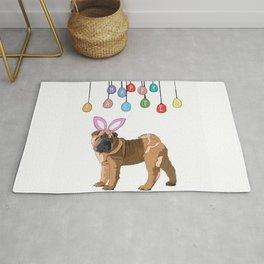 Happy Easter Bunny - Shar Pei dog Rug