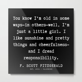 88   | F.Scott Fitzgerald Quotes | 191205 Metal Print