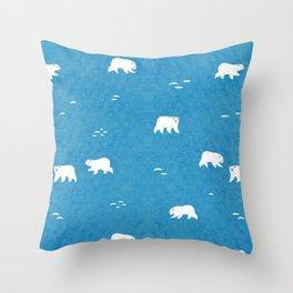 Polar Bears Pattern Throw Pillow