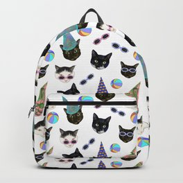 Festive Birthday Cat Party Backpack