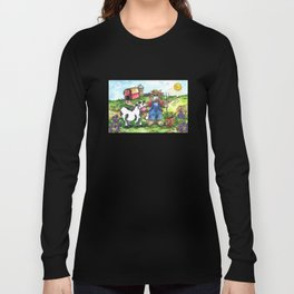Farmer Fluffy at Harvest Time Long Sleeve T-shirt