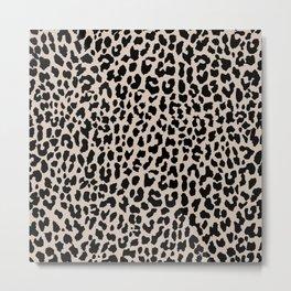 Tan Leopard Metal Print