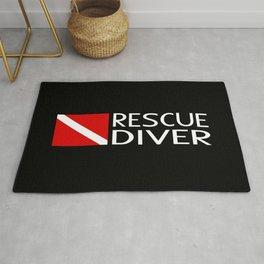 Diver Down Flag: Rescue Diver Rug