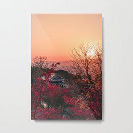 Magical sunset in Kyoto Metal Print