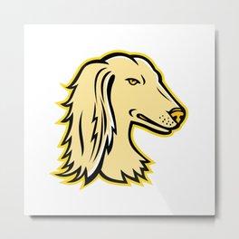 Saluki or Persian Greyhound Mascot Metal Print