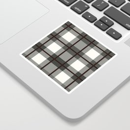Plaid White And Brown Lumberjack Flannel Sticker