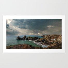 Kynance Cove, Cornwall Art Print
