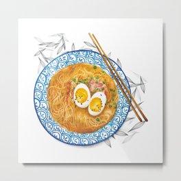 Ramen Noodles Bowl - Watercolour food illustration  Metal Print