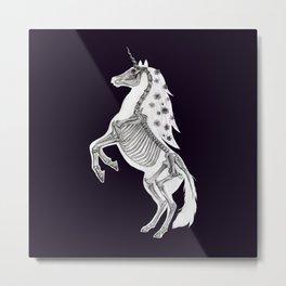 Unicorn Skeleton: Magic Animal Anatomy Metal Print