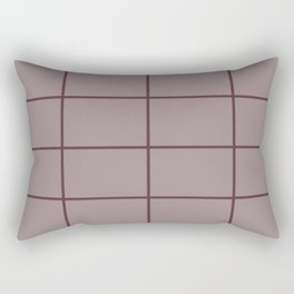 Deep Purple Pink-Purple Criss Cross Stripe Pattern 2021 Color of the Year Epoch Spiced Mulberry Rectangular Pillow