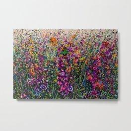 Hollyhock Fantasy Pollock Style Painting  Metal Print