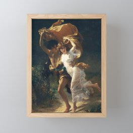 The Storm by Pierre-Auguste Cot 1880, French Framed Mini Art Print