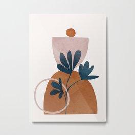 Minimal Abstract Shapes No.30 Metal Print