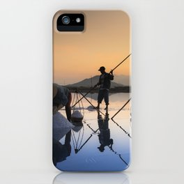 Salt harvesting Hon Khoi Vietnam Landscape iPhone Case